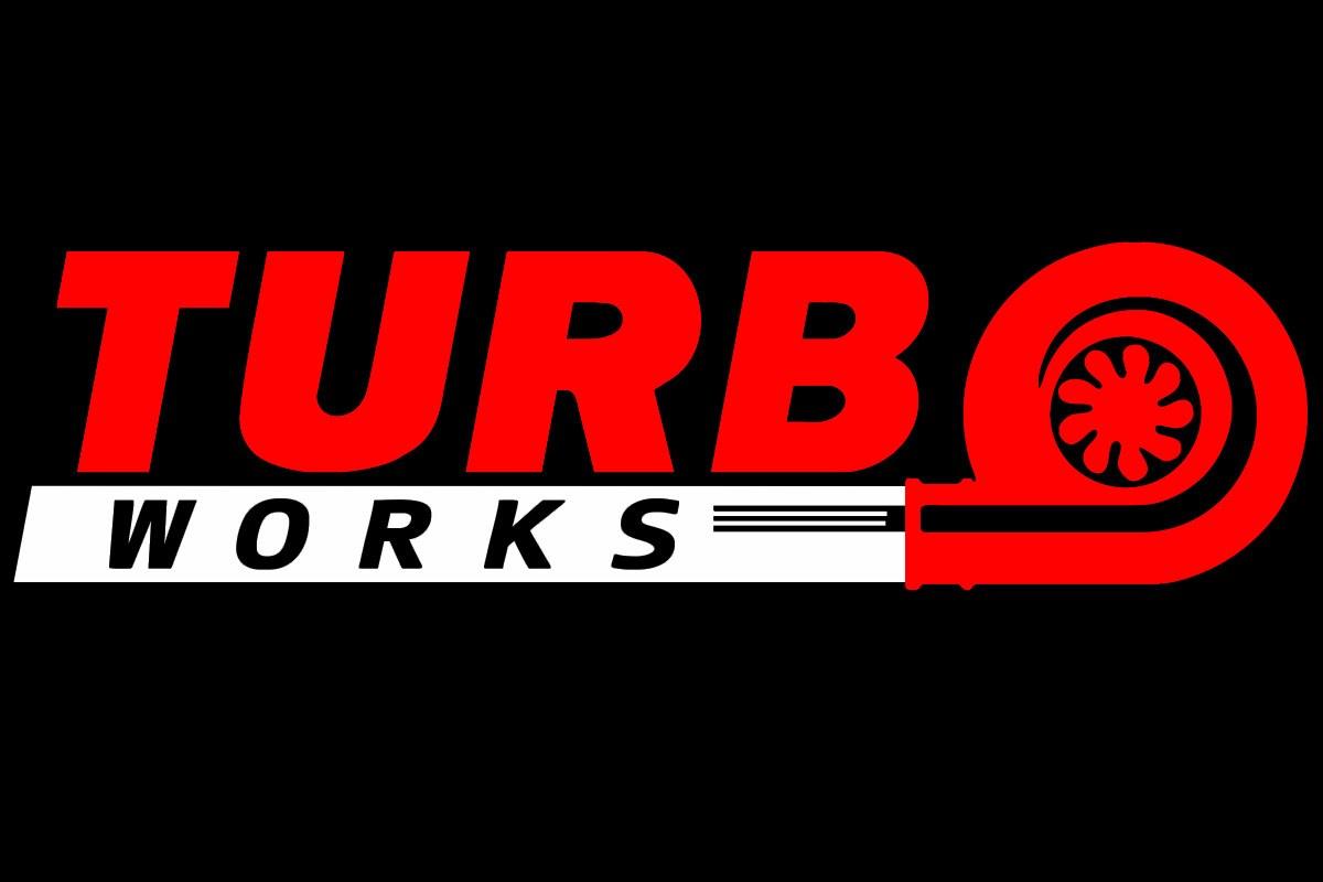 Naklejka TurboWorks Czerwono-Biała - GRUBYGARAGE - Sklep Tuningowy